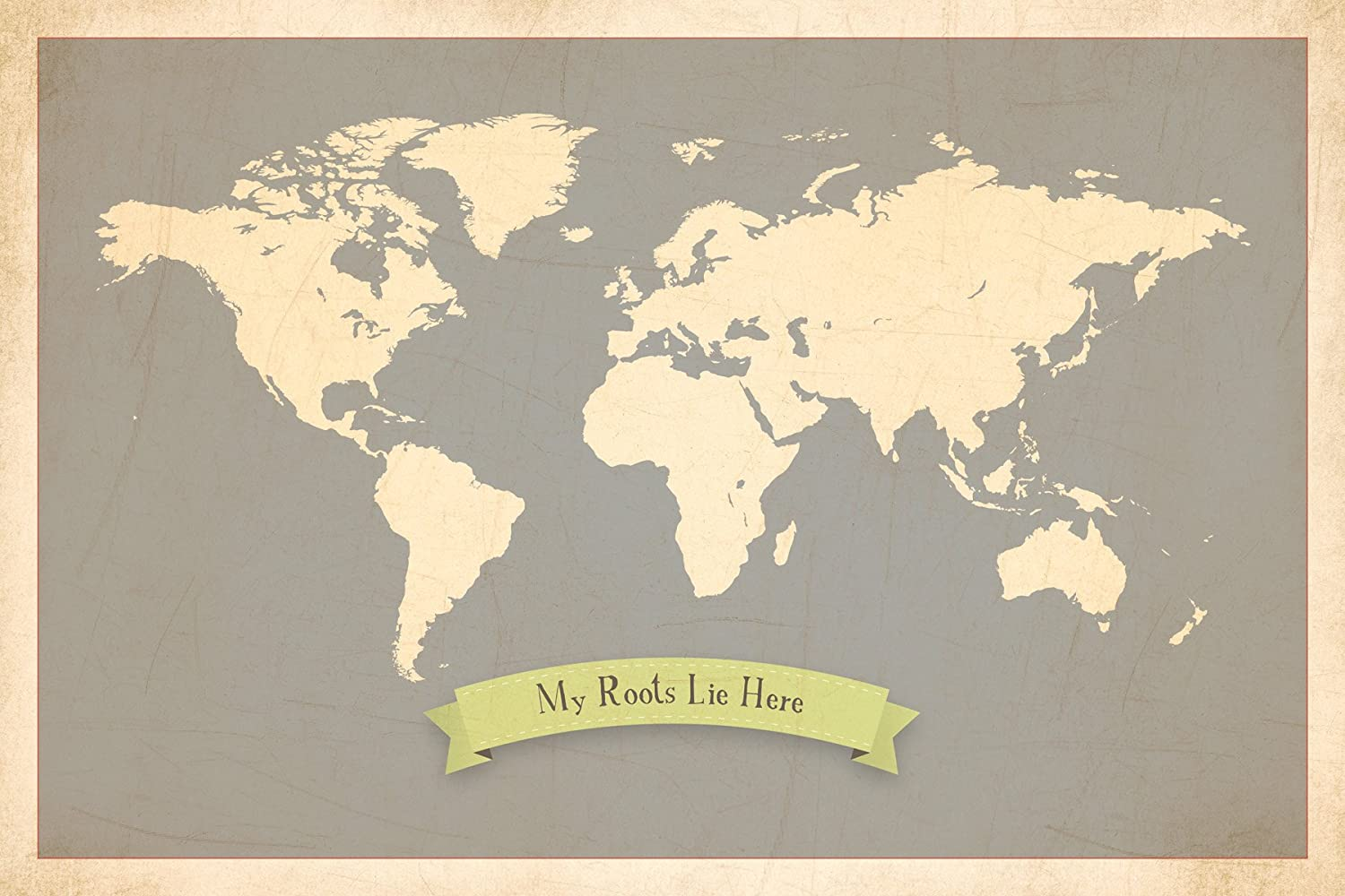 Amazon.com : My Roots Personalized World Map 24x18 Print, Kidu0027s Wall Art  World Map, Kidu0027s Wall Art Print, Kidu0027s Travel World Map, Customized Roots  Map, ...