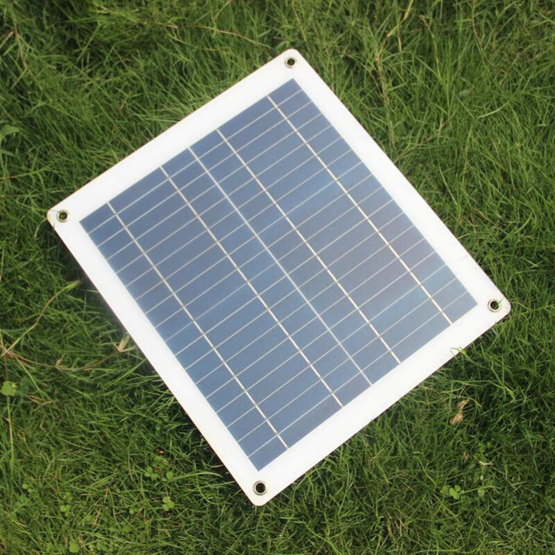 Color: Blanco y Negro FairytaleMM El Panel Solar Semi-Flexible del Cargador de bater/ía del Panel Solar 30W 18V para el Barco del Coche