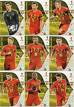 prime noel 2018 belgique ADRENALYN XL FIFA WORLD CUP 2018 FULL 9 CARD BELGIUM TEAM SET  prime noel 2018 belgique