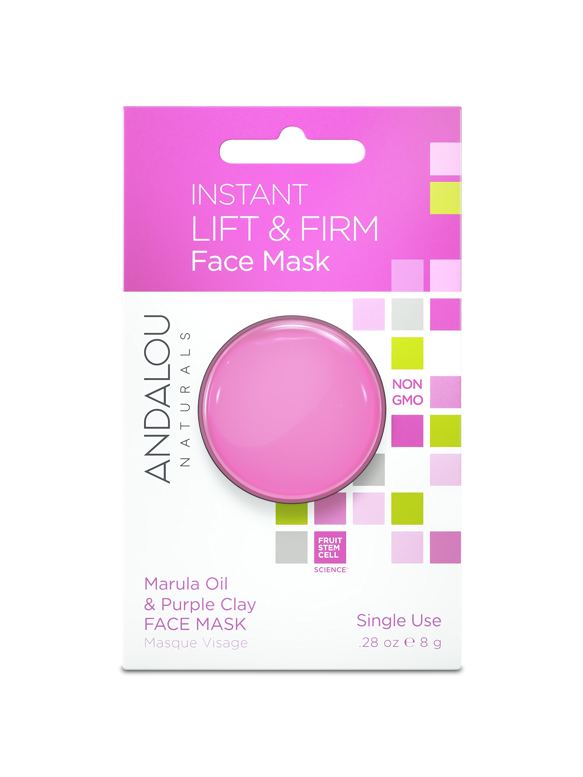 Andalou Naturals Instant Lift & Firm Marula Oil & Purple Clay Mask Pod, 0.28 Ounce