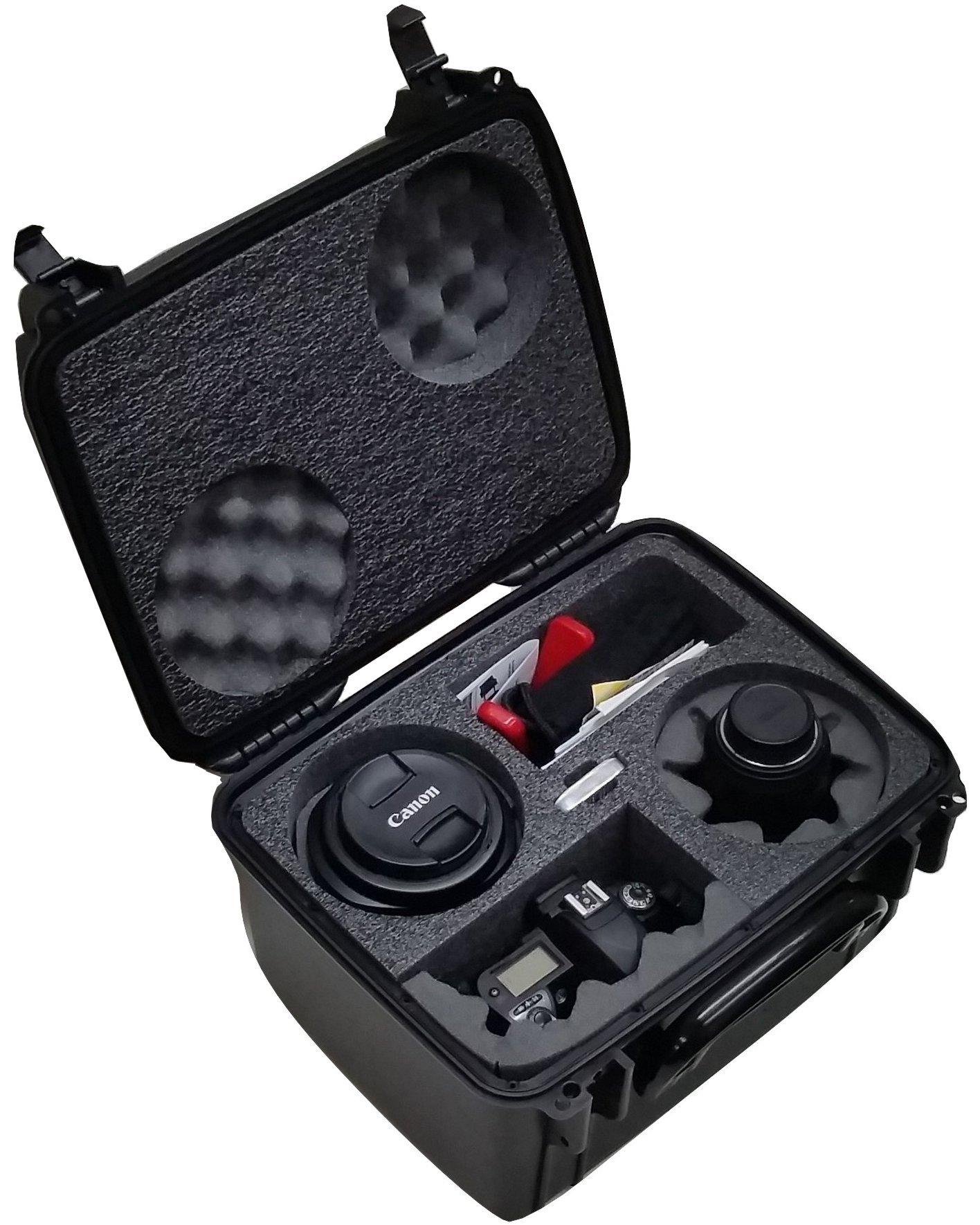 Case Club Waterproof DSLR 2 Lens Camera Case by Case Club