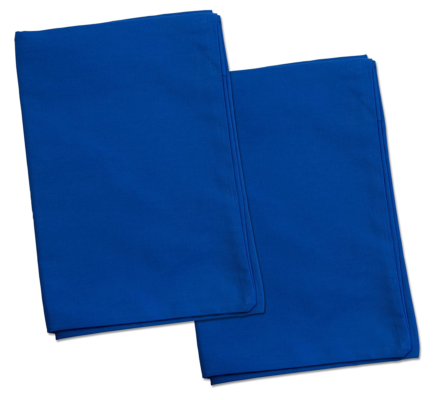 2 Blue Toddler Pillowcases - Envelope Style - For Pillows Sized 13x18 and 14x19 - 100% Cotton With Percale Weave - Machine Washable - ZadisonJaxx ZacharyPaul Collection - 2 Pack Zadisonjaxx Pillow ZJTPC-ZPC-BP2P