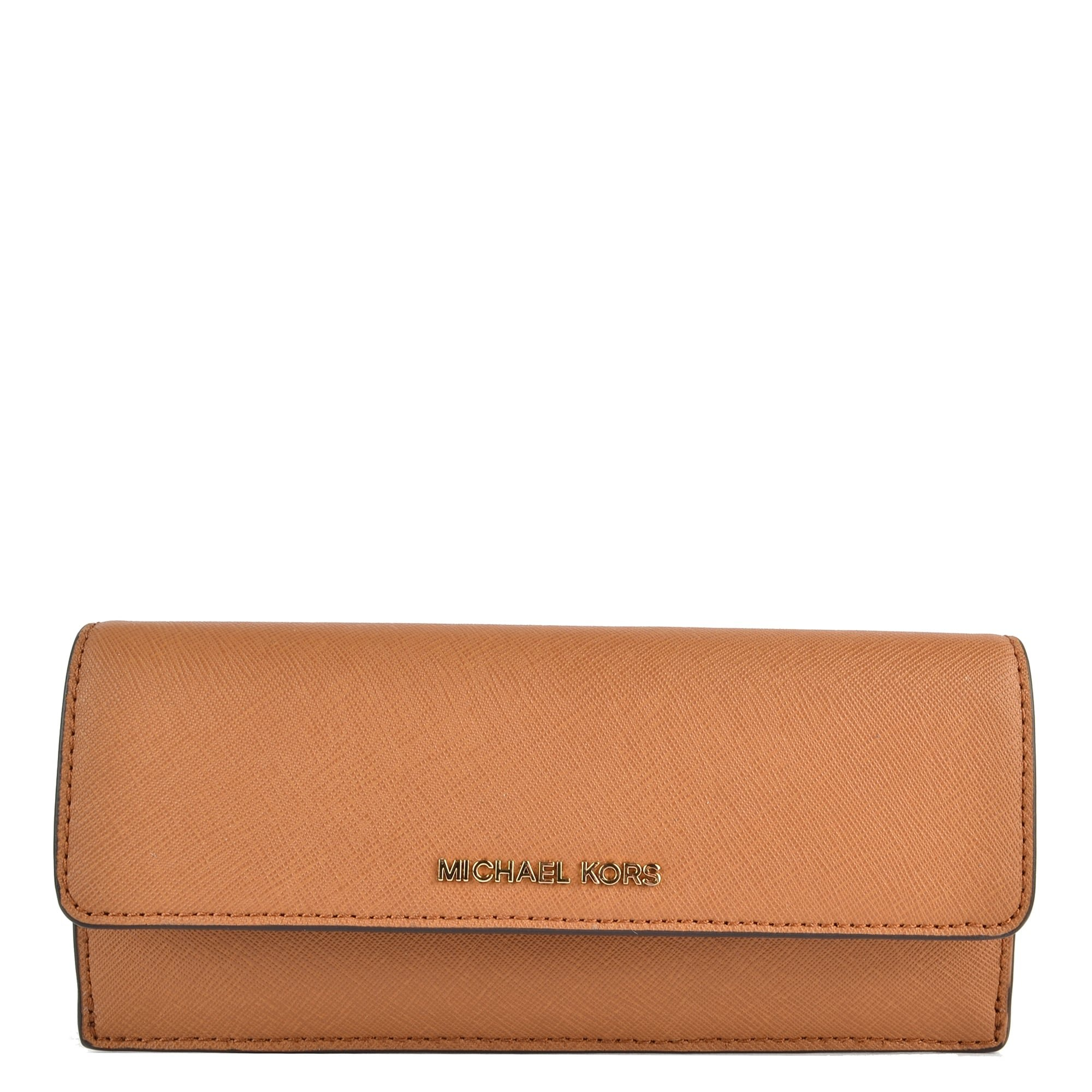 MICHAEL Michael Kors Jet Set Travel Slim Saffiano Leather Wallet, Color Acorn by Michael Kors