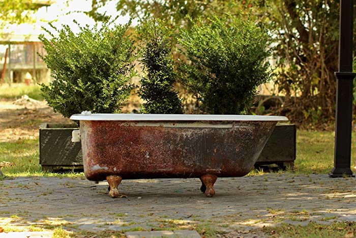 Amazoncom Refinished Antique Clawfoot Bathtub Deep Red Grey