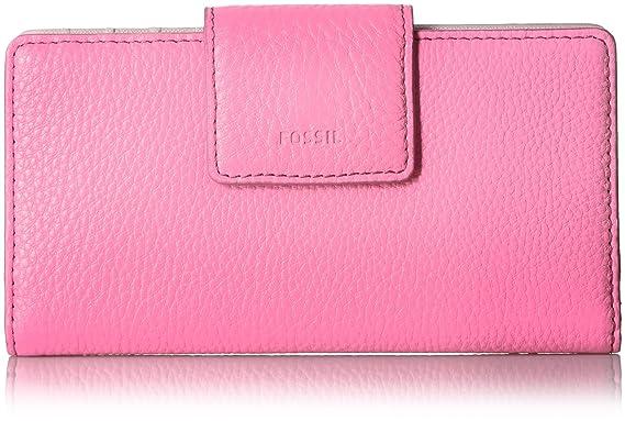 54e967787a3f Amazon.com: Fossil Emma RFID TAB Wallet, Neon Pink: Clothing