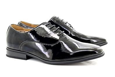 18b74935d99 Mens Evening   Uniform   Oxford shoes Black Patent  Amazon.co.uk  Shoes    Bags