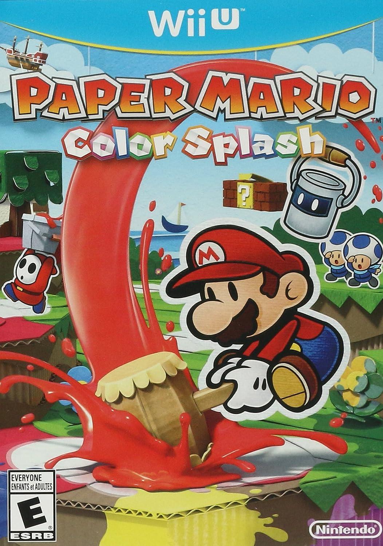 Amazon com: Paper Mario: Color Splash - Wii U Standard