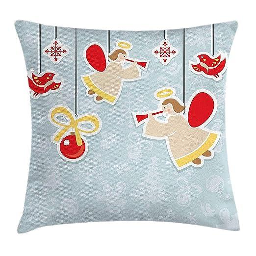 CANCA Angel Throw Pillow Funda de cojín, hada jugando ...