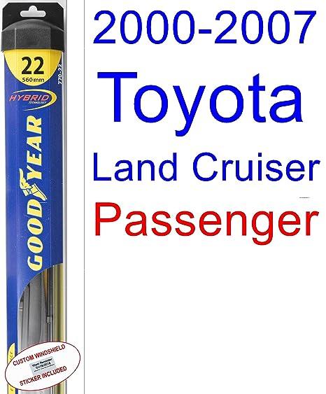 2000 – 2007 Toyota Land Cruiser hoja de limpiaparabrisas de repuesto Set/Kit (Goodyear