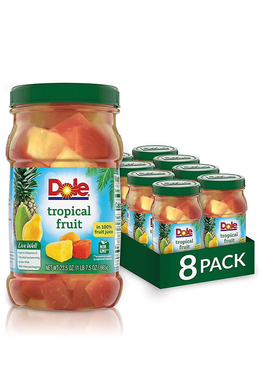 Dole Jarred Tropical Fruit in 100% Juice, 23.5 Ounce Jar (Pack of 8)