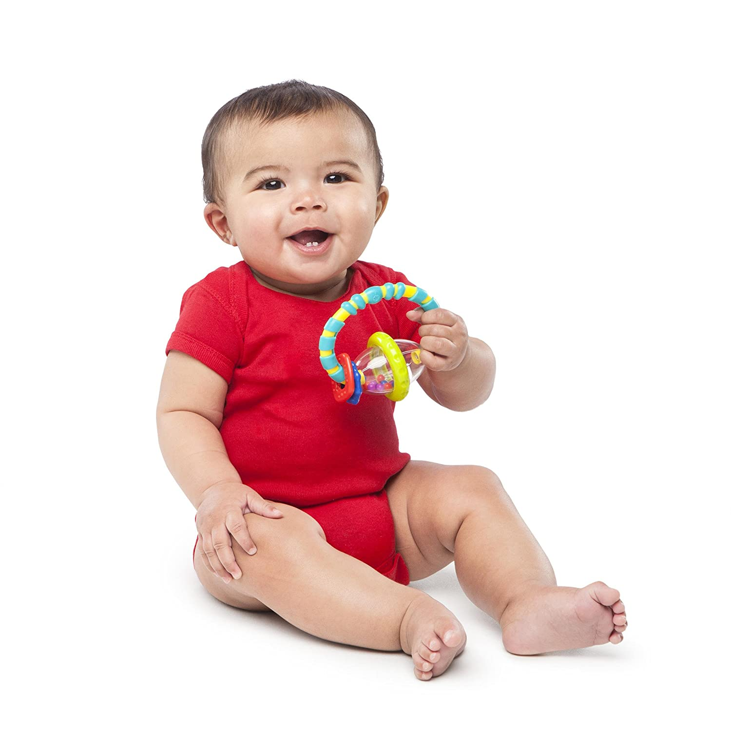 Kids II Bright Starts Grab and Spin Rattle Toy