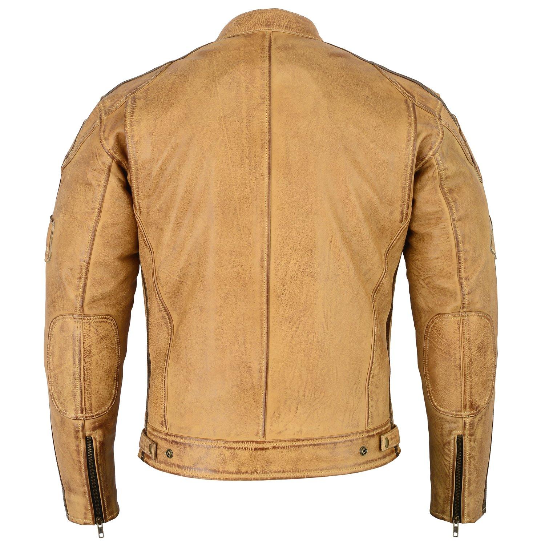 XXL Herren Motorradjacke aus Nappa Leder