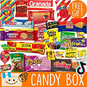 Candy Variety Pack for Adults and Kids + FREE Surprise! - Best International Candy Box From Guatemala - Weird Candy From Around The World - Exotic Candy Boxes - Tiktok Subscription Box Unique Gift