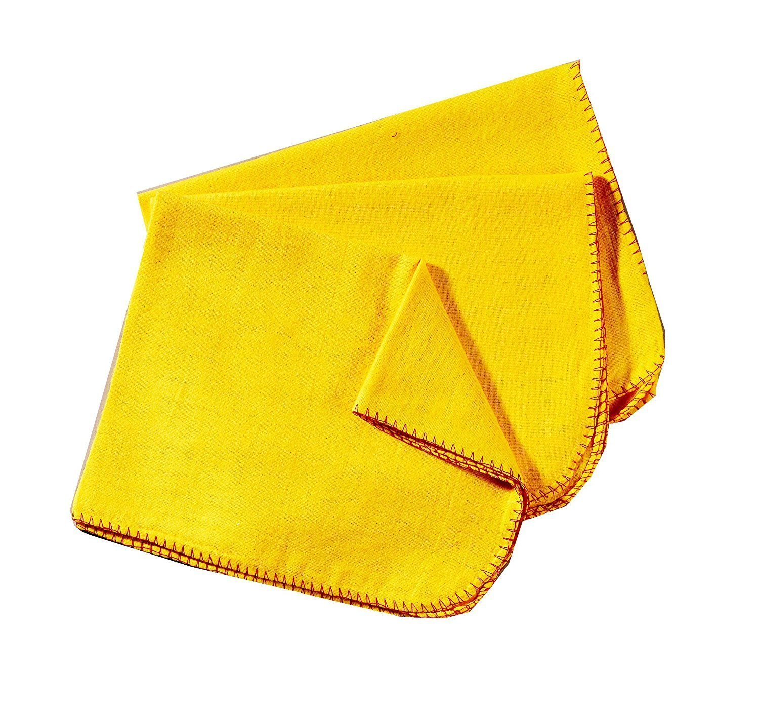 Rochley 6 Pack Cotton Yellow Duster Cloth Cleaning Dusting