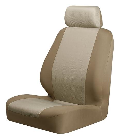 Wondrous Amazon Com Braxton Low Back Seat Cover Tan Pack Of 2 Machost Co Dining Chair Design Ideas Machostcouk