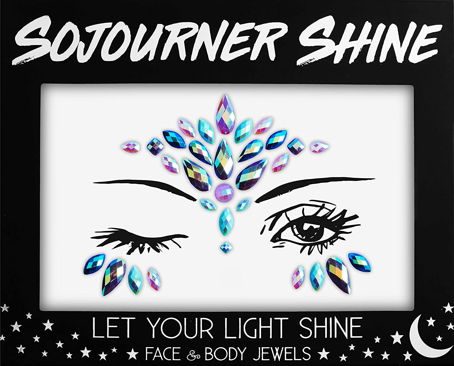 Face Jewels Glitter Gems Rhinestones – Eye Body Jewels Gems | Rhinestone Stickers | Body Glitter Festival Rave & Party Accessories by SoJourner (Unicorn Tears) SoJourner Bags