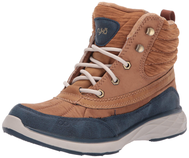 Ryka Women's Leanna Ankle Boot, tan/Navy, 10 W US by Ryka