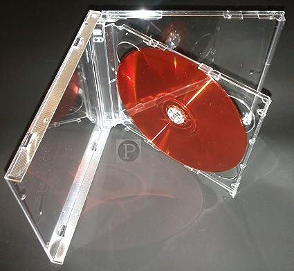 Panmer - Cajas dobles para CD (5,2 mm, 10 unidades), transparente: Amazon.es: Oficina y papelería