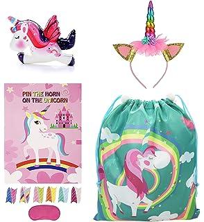 Drawstring Unicorn Goodie Bags Bulk Candy Bags Unicorn Party Favors for Girls for Unicorn Party Supplies School Classroom Prizes Joyin Inc Unicorn Pinata Baby Shower 12 Pack Unicorn Party Decorations