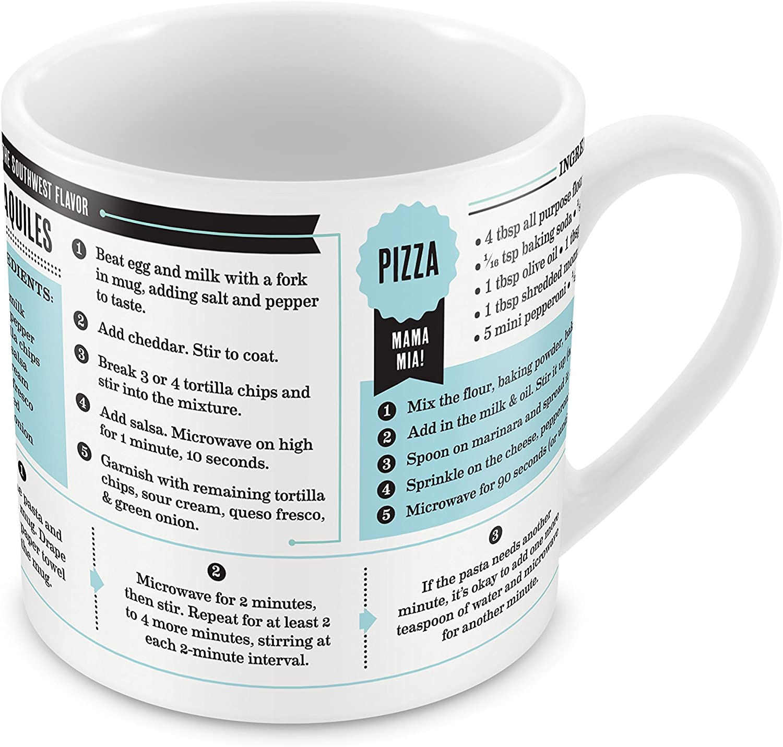 Gold Fred 5200155 GRUB MUGS Microwavable Porcelain Recipe Mugs 12 Total Recipes