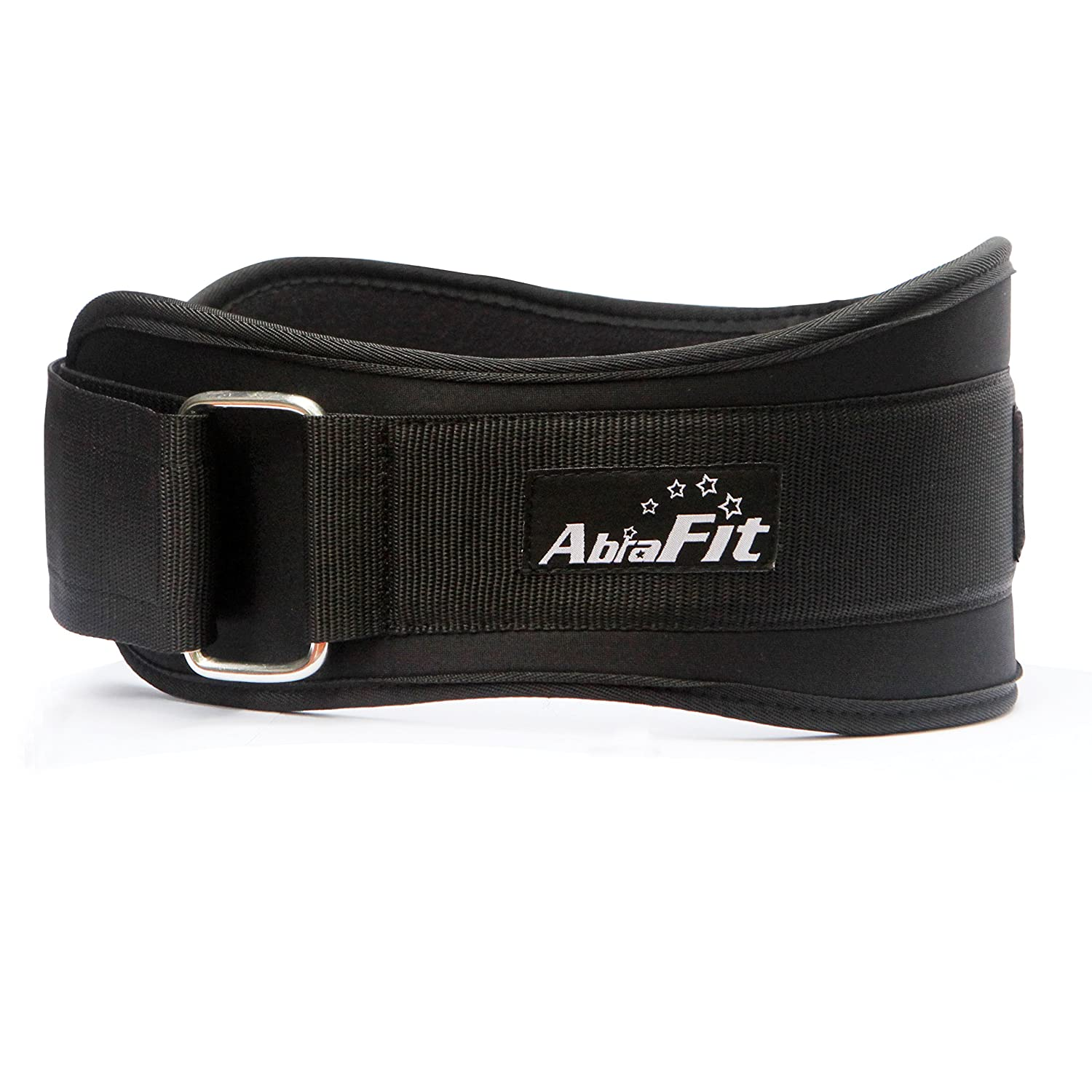 AbraFit 6 Inches Neoprene Belt Pro Version – Great for Squats, Deadlifts, Bent Over Rows, Crossfit, Lunges, Thrusters – Firm Comfortable Lumbar Back Support