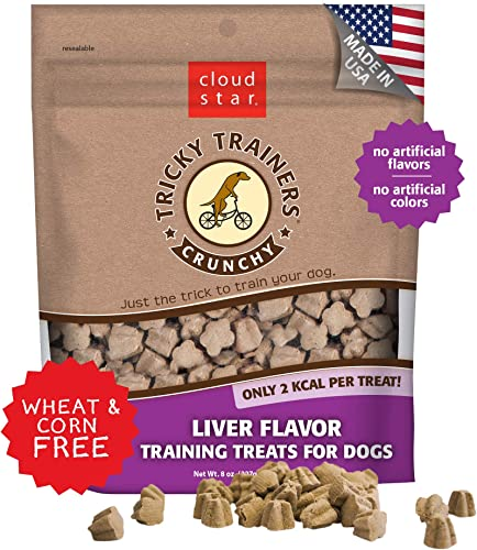 Cloud Star Tricky Trainers Crunchy, Low Calorie Training Dog Treat, Made in the USA, Wheat Corn Free