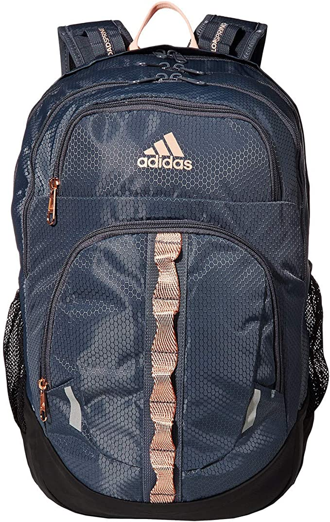 Amazon Com Adidas Prime V Backpack Onix Rose Gold Haze Coral Black One Size Casual Daypacks