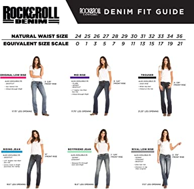 Rock Roll Cowgirl Womens Riding Boot Cut In Dark Vintage At Amazon Women S Jeans Store