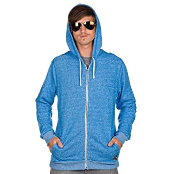 Hombre Chaqueta con capucha Hurley Vacation Zip Hood, hombre, heather spirit blue