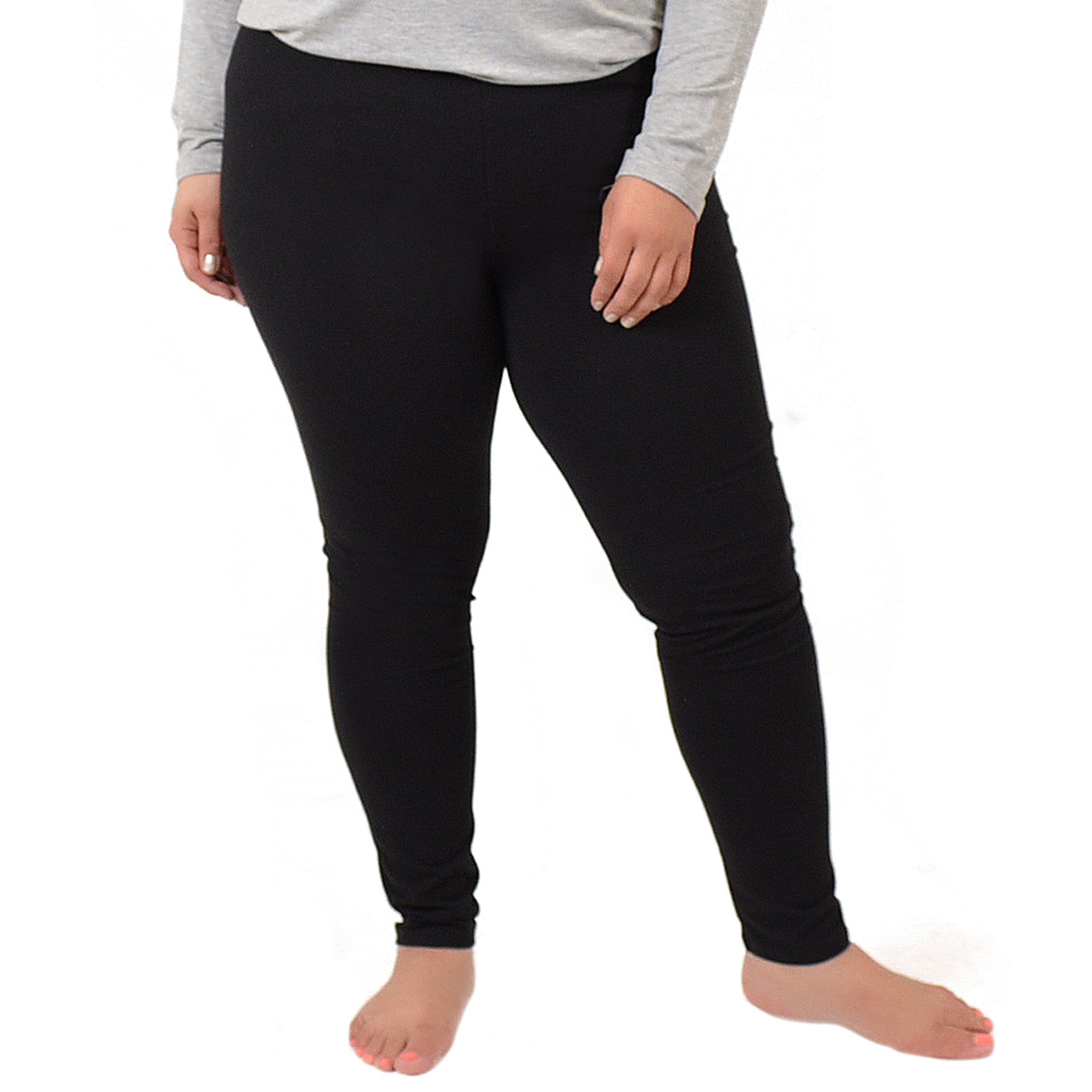 Stretch is Comfort Women's Cotton Plus Size Leggings Black 3XL