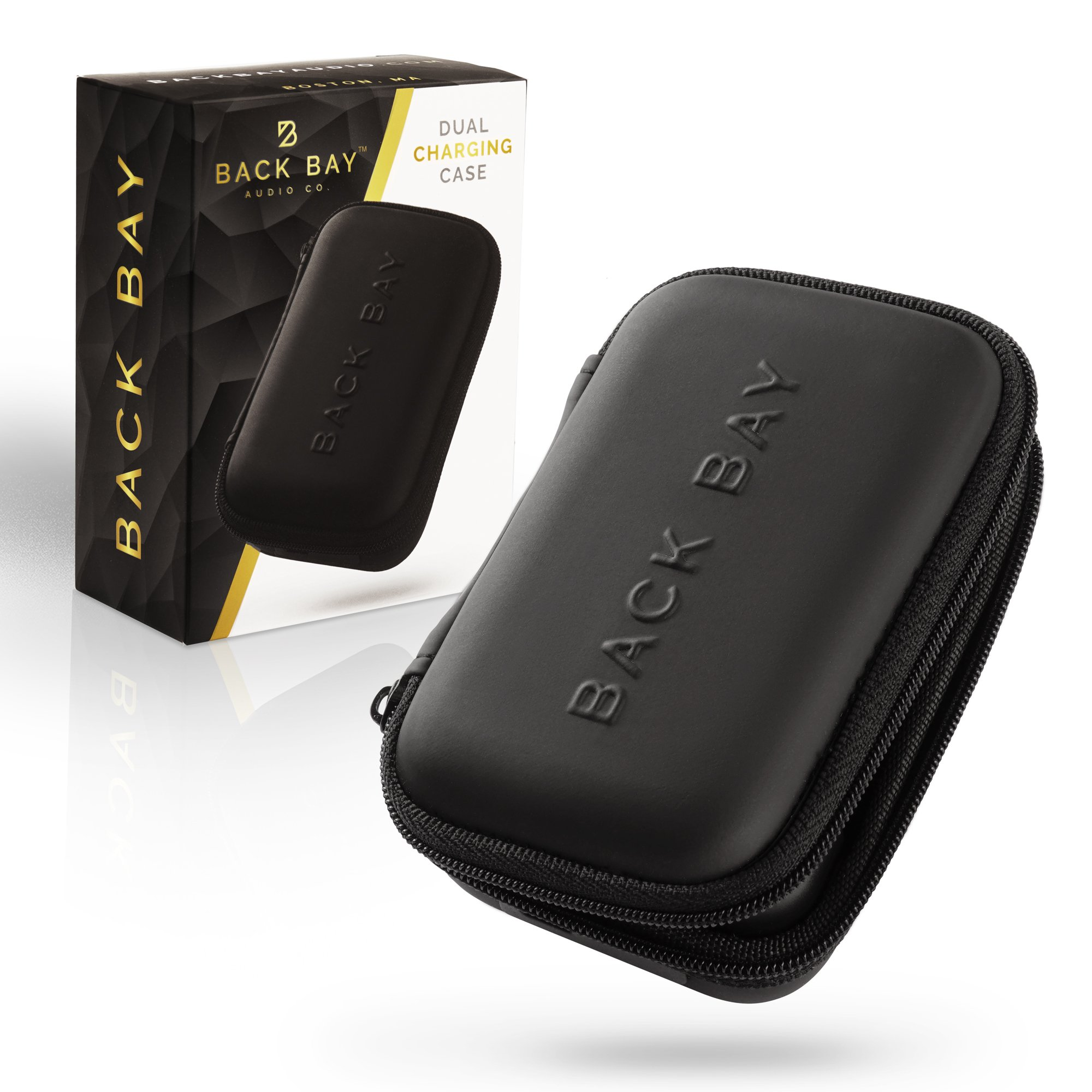 Back Bay™ Dual Charging Case - Power Bank Case for Bluetooth Earbuds, Headphones and Fitness Trackers. Compatible with Beats, Jaybird, Bose, JBL, Fitbit, Apple Watch and Others