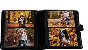Ultra Pro 58005 Photo Album with Strap Closure, Black