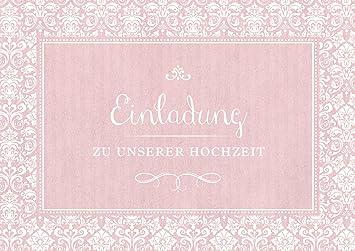 8er Set Einladung Zu Unserer Hochzeit Einladungskarte Zur Hochzeit