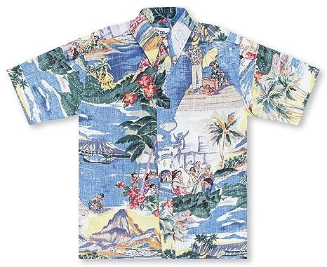 f88f1f6b2 Reyn Spooner Trans Pacific 40's Hawaiian Shirt at Amazon Men's Clothing  store: