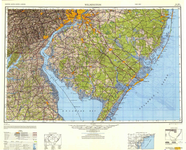 Amazon.com : YellowMaps Wilmington DE topo map, 1:250000 ...
