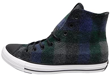 1a277ad86e0f97 Converse Men s X Woolrich CTAS Hi Almost Black Thunder White Skateboarding  Shoes 153835C (