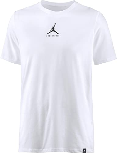e73aa0a9 Nike Mens Jordan Dry 23/7 Jumpman Basketball T-Shirt White/Black 840394-100  Size Large: Buy Online at Low Prices in India - Amazon.in