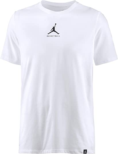 14bbd1622f779b Nike Mens Jordan Dry 23 7 Jumpman Basketball T-Shirt White Black 840394-100  Size Large  Buy Online at Low Prices in India - Amazon.in