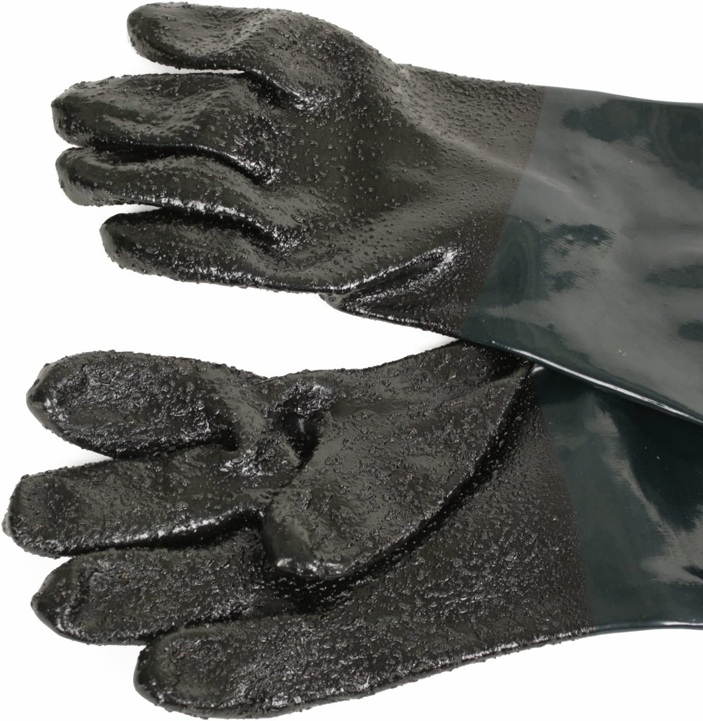 "Sand blast Cabinet Highly Durable 6/"" x 24/"" LEATHER UPPER Sandblast Gloves Pair"
