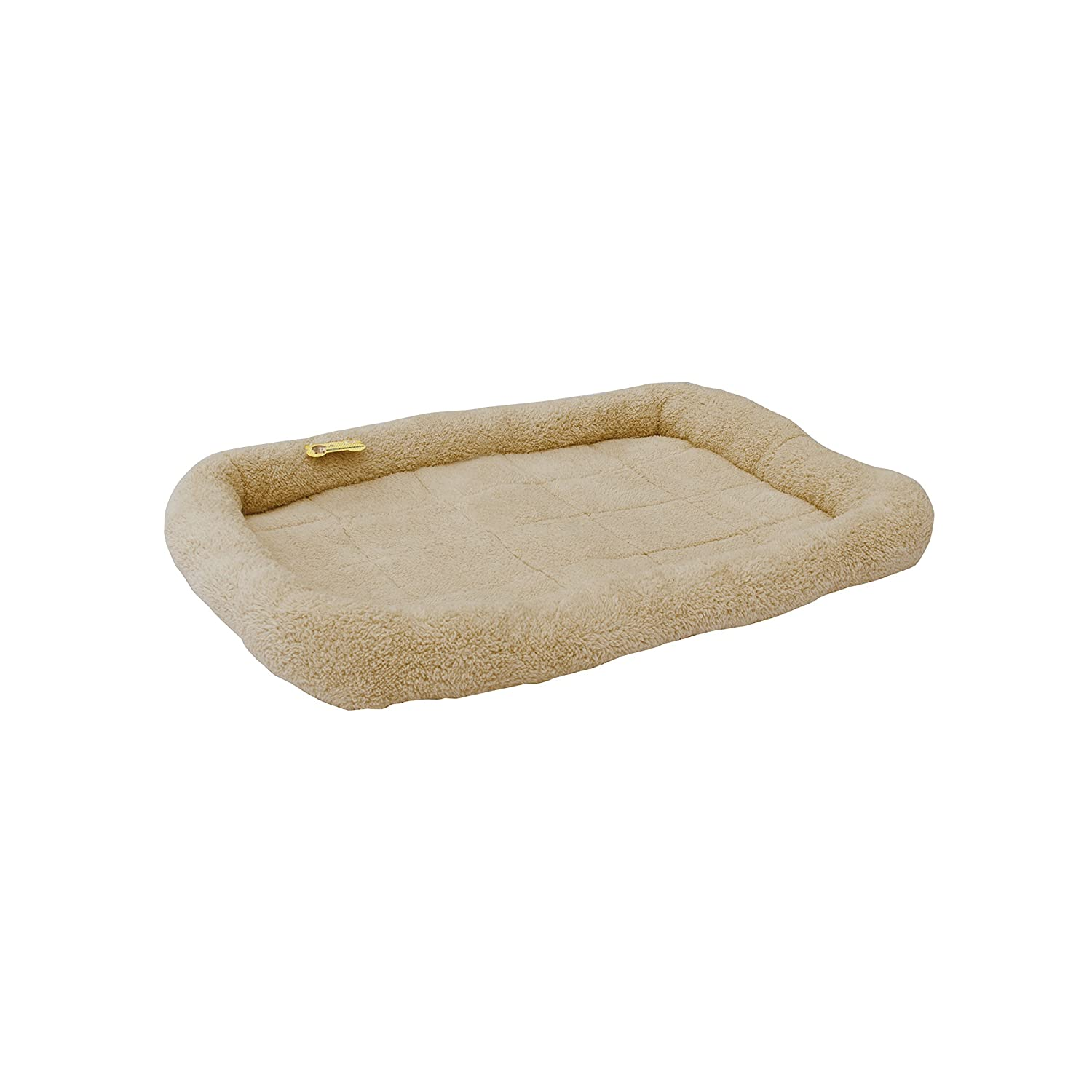 ALEKO PCM05L Soft Plush Beige Comfy Pet Bed Cushion Mat for Dogs and Cats, Large