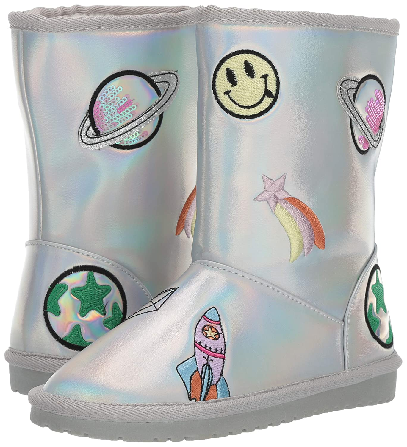 The Childrens Place Kids Faux Sherling Boot Fashion