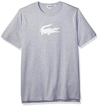 e3969fb4 Lacoste Men's Sport Short Sleeve Premium Animated Transfer Croc T-Shirt,  Silver Chine Small
