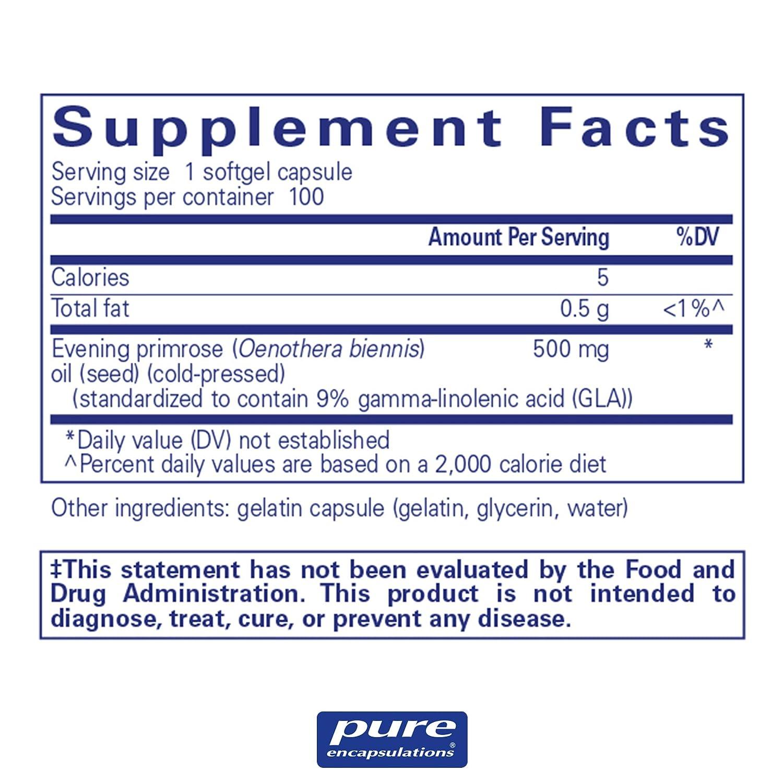 Pure Encapsulations - EPO (Evening Primrose Oil) - Hypoallergenic Dietary  Supplement