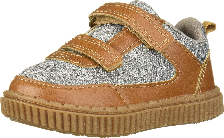 OshKosh B'Gosh Boys' Jasper Sneaker, tan/Grey, 9 M US Toddler 812Biqi1nPNL