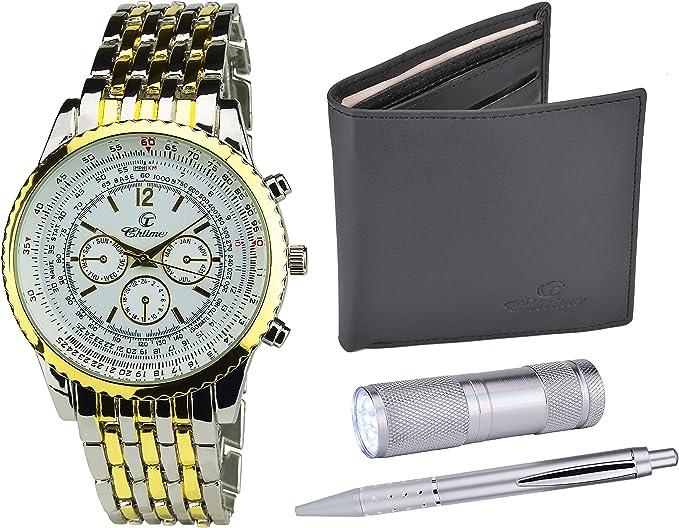 Bellos - Caja de regalo con reloj de pulsera para hombre color ...