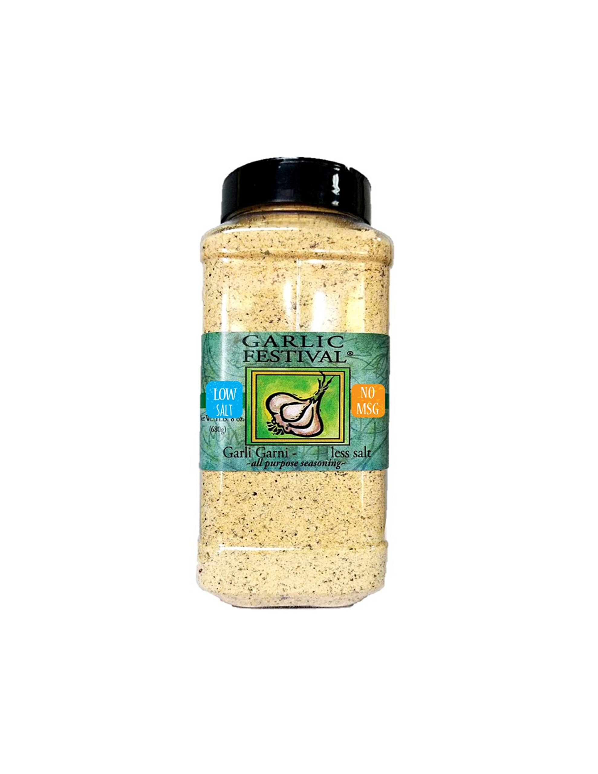 Garlic Festival Low Sodium Garli Garni Garlic Seasoning 24 Oz. Gluten Free No MSG