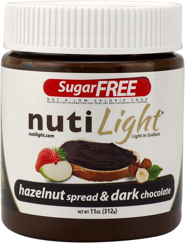 Nutilight Proteína sin azúcar Avellana y chocolate negro 11 oz. (312gr) - 4 paquete