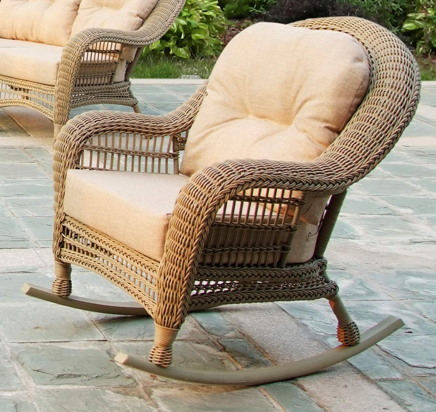 W Unlimited SW1308-RC-02 Saturn Collection Outdoor Garden Patio Rocking Chair, Light Brown