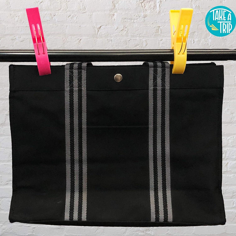 Large 4pk x 2 Take A Trip Towel Clips 4pk x 2 units Durable Beach Towel Clips for Sun Loungers Plastic Bright Quilt Laundry Peg