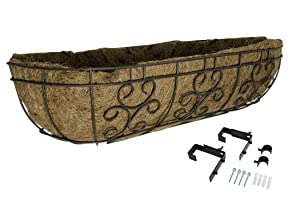 Panacea Products 88530 Series 30-Inch Window/Deck Planter, Cameo BRWN, Brown